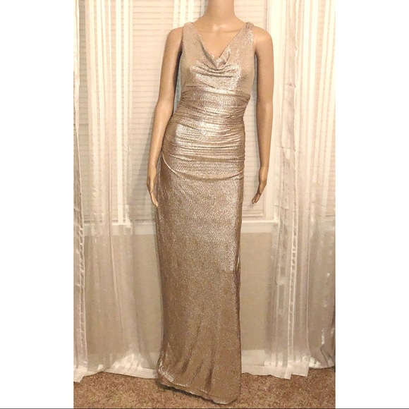 185f1a4b49 Lauren Ralph Lauren Dresses   Skirts - ⚫️Lauren Ralph Lauren Gold Evening  Gown